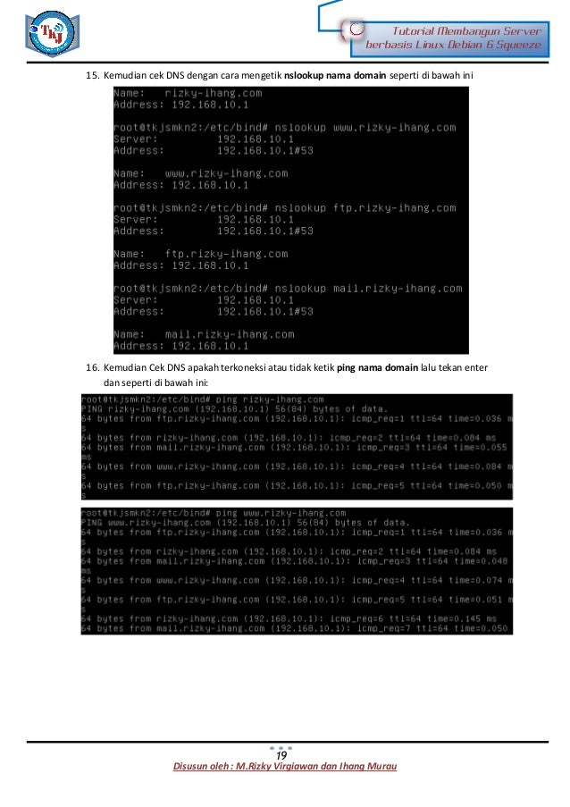 Tutorial membangun server jaringan
