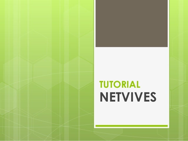 TUTORIAL  NETVIVES