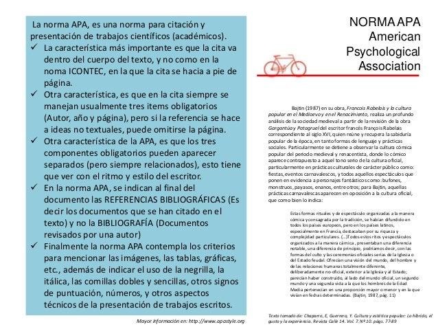 NORMAAPA American Psychological Association La norma APA, es una norma para citación y presentación de trabajos científico...