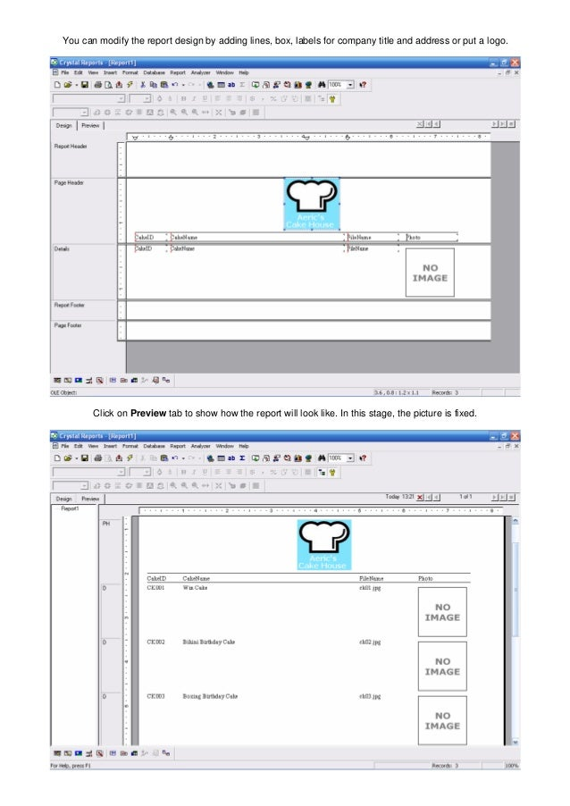 Tutorial on how to load images in crystal reports