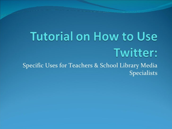 Tutorial on twitter in the lmc