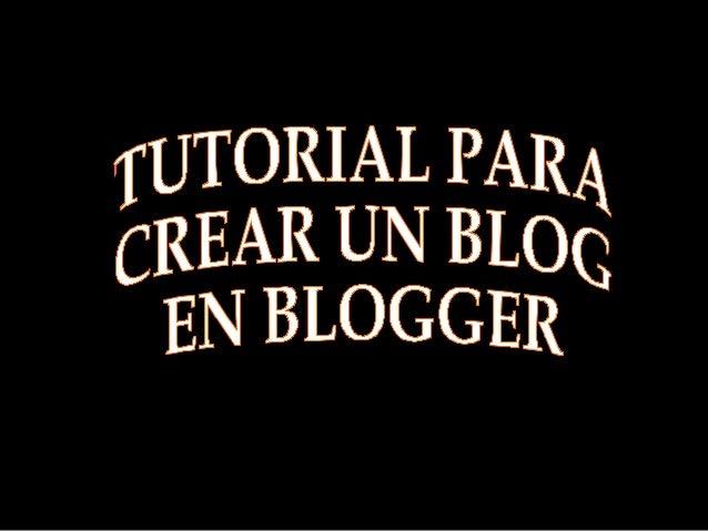 Tutorial para crear blog