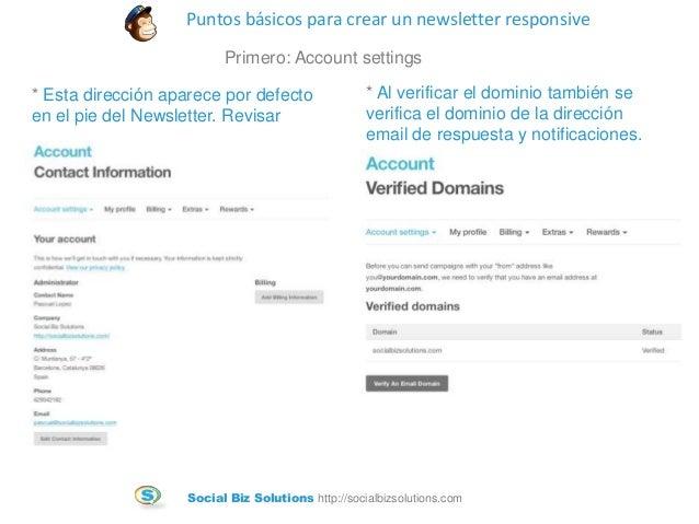 Tutorial para crear un newsletter responsive con Mailchimp Slide 2