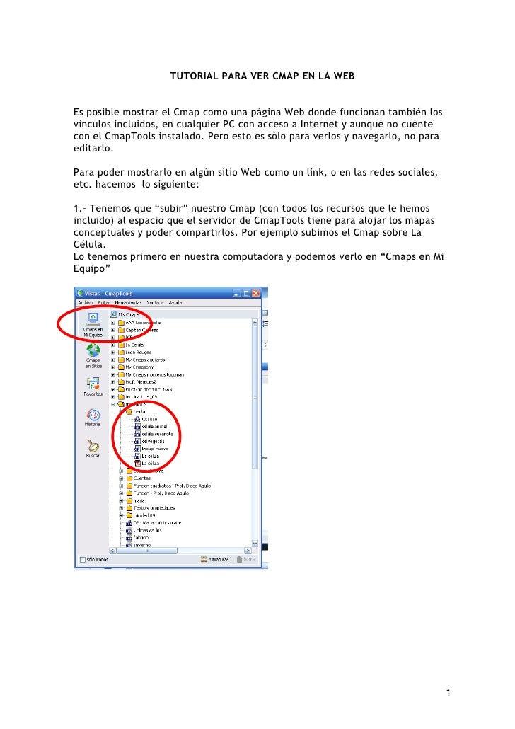 TUTORIAL PARA VER CMAP EN LA WEB   Es posible mostrar el Cmap como una página Web donde funcionan también los vínculos inc...
