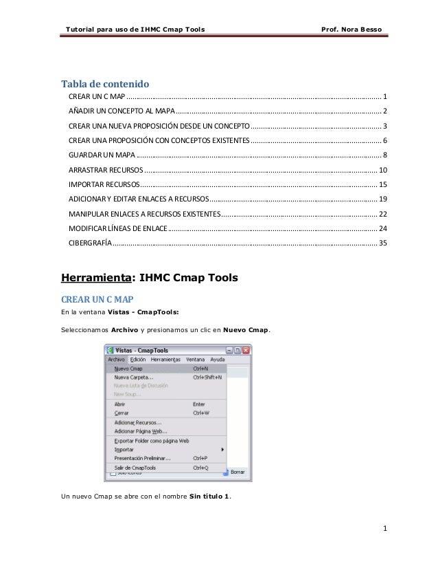 Tutorial para uso de IHMC Cmap Tools                                                                                   Pro...