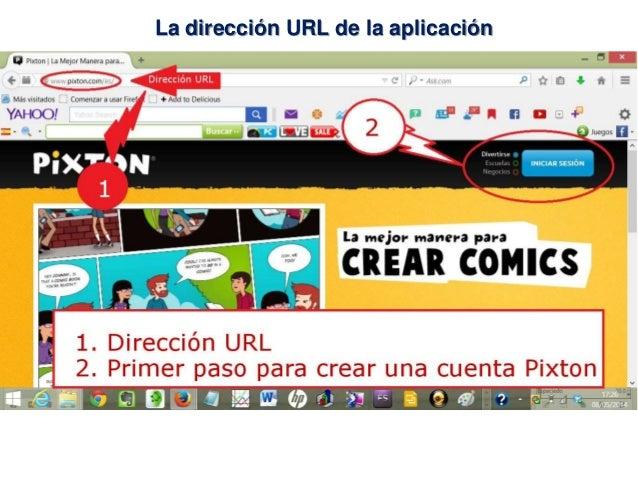 La dirección URL de la aplicación