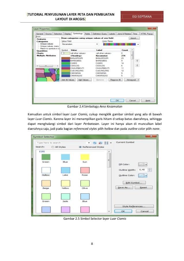 Tutorial penyusunan layer peta & pembuatan layout di arcgis