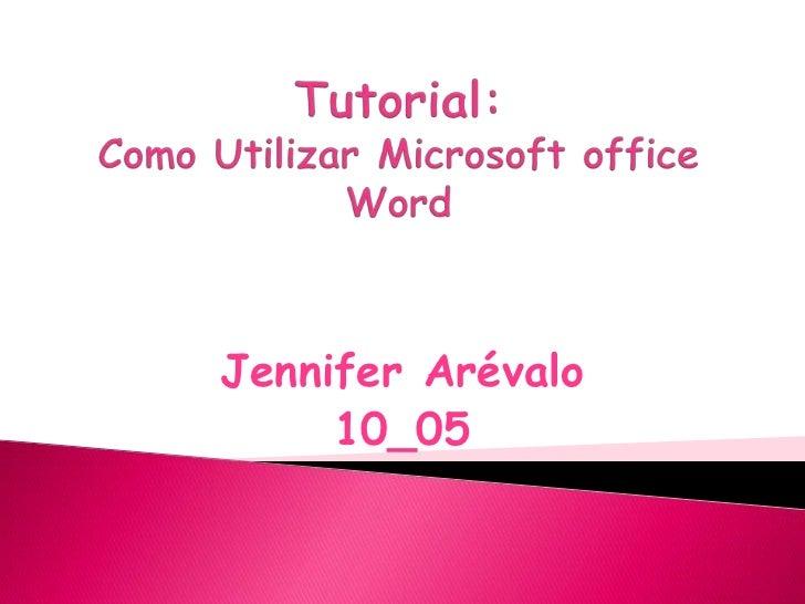 Jennifer Arévalo     10_05