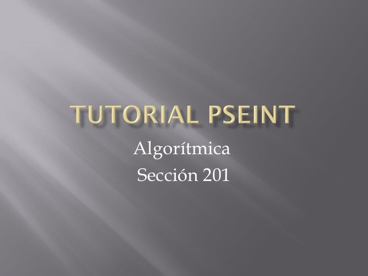 AlgorítmicaSección 201