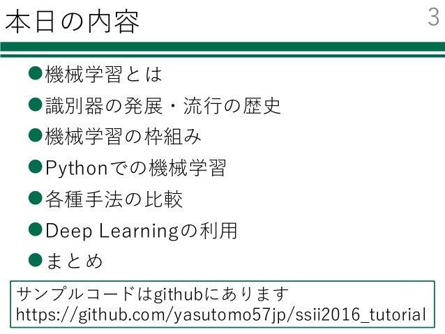 Pythonによる機械学習入門 ~SVMからDeep Learningまで~ Slide 3