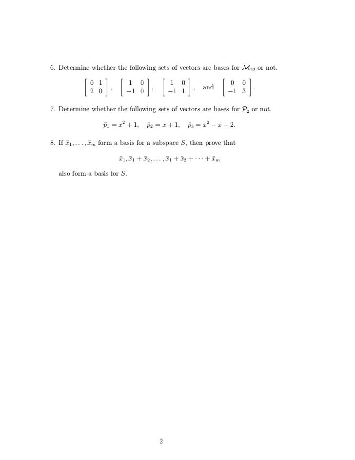 Determine If W Is A Subspace Of A Vector Space V