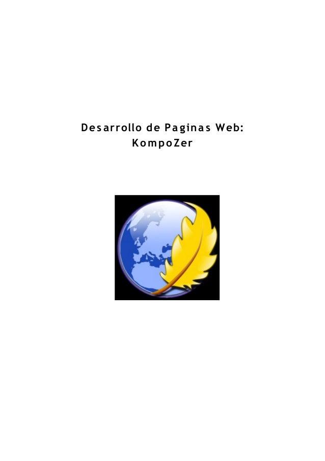Desarrollo de Pa ginas Web: KompoZer