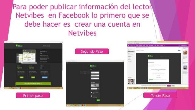 Tutorial sobre como publicar la información del lector netvibes en Facebook Slide 2