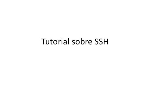 Tutorial sobre SSH