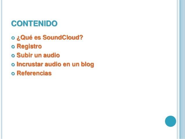 Tutorial SoundCloud Slide 2