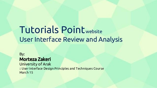 Tutorialspoint UI Analysis