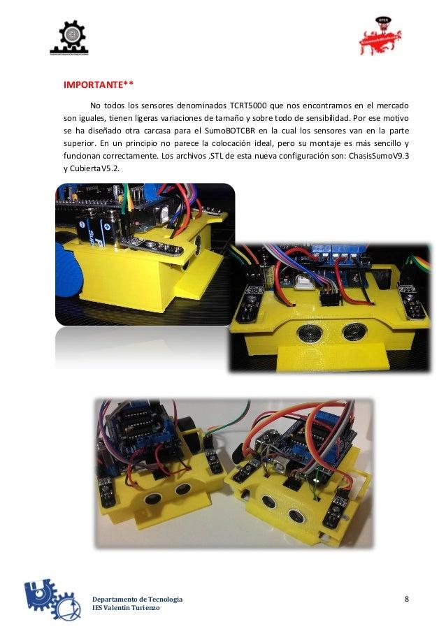 8Departamento de Tecnología IES Valentín Turienzo IMPORTANTE** No todos los sensores denominados TCRT5000 que nos encontra...