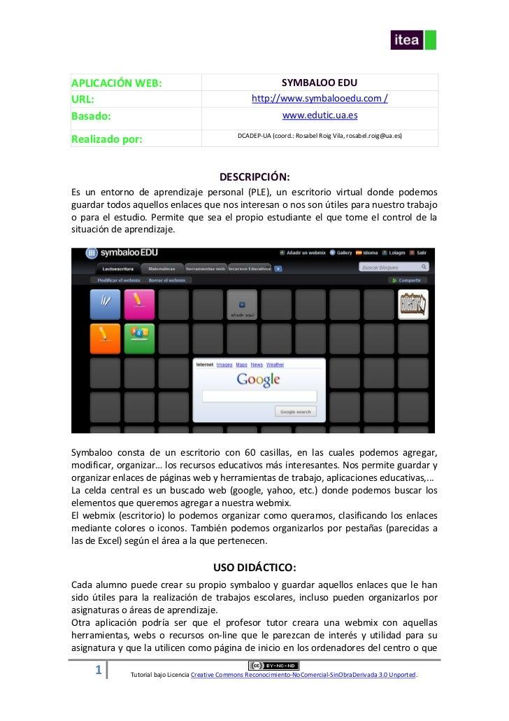 APLICACIÓN WEB:                                                 SYMBALOO EDUURL:                                          ...