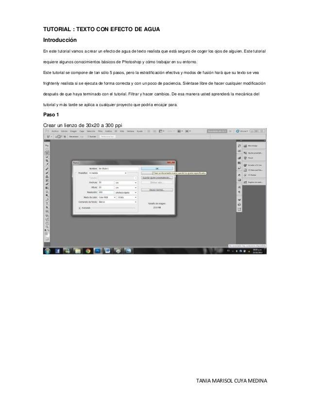 TUTORIAL : TEXTO CON EFECTO DE AGUAIntroducciónEn este tutorial vamos a crear un efecto de agua de texto realista que está...