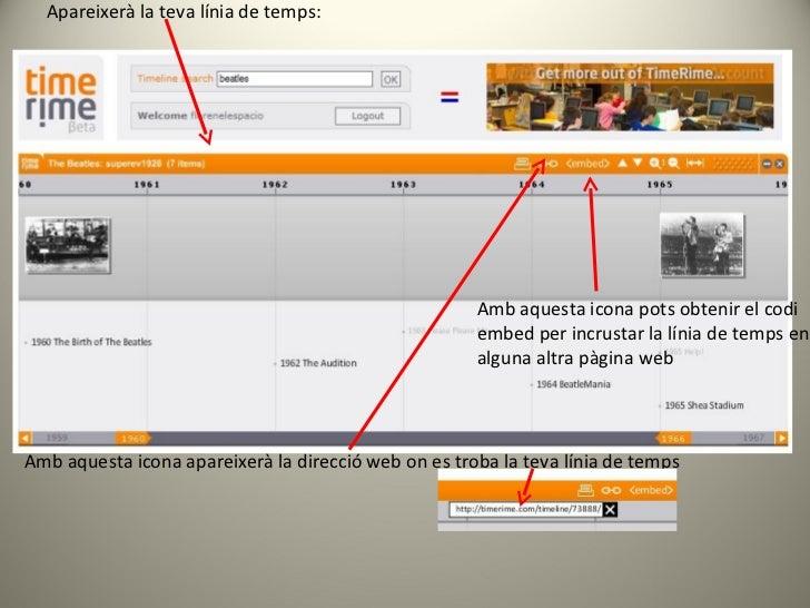 Apareixerà la teva línia de temps: Amb aquesta icona apareixerà la direcció web on es troba la teva línia de temps Amb aqu...