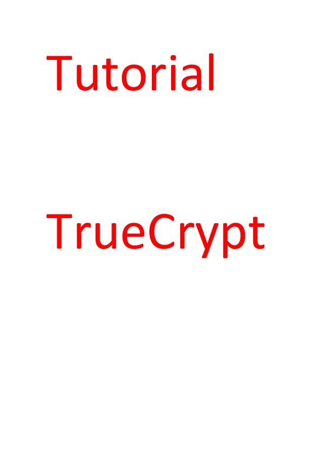 TutorialTrueCrypt