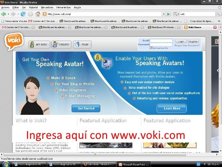 Ingresa aquí con www.voki.com