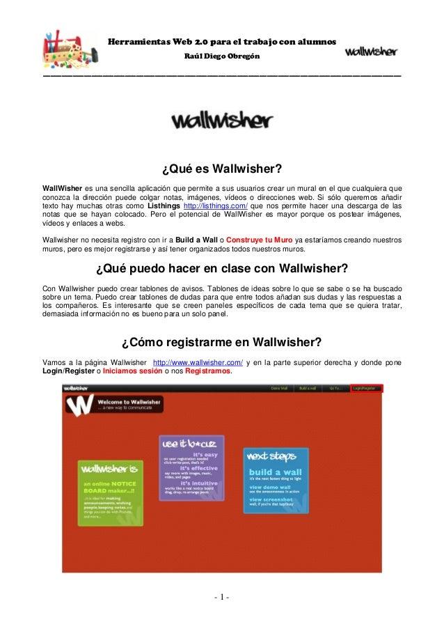 Herramientas Web 2.0 para el trabajo con alumnosRaúl Diego Obregón________________________________________________________...