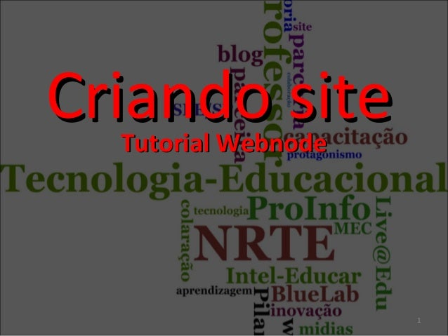 Tutorial WebnodeTutorial WebnodeCriando siteCriando site1