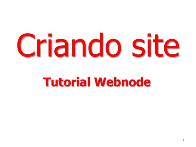 Tutorial Webnode Criando site 1