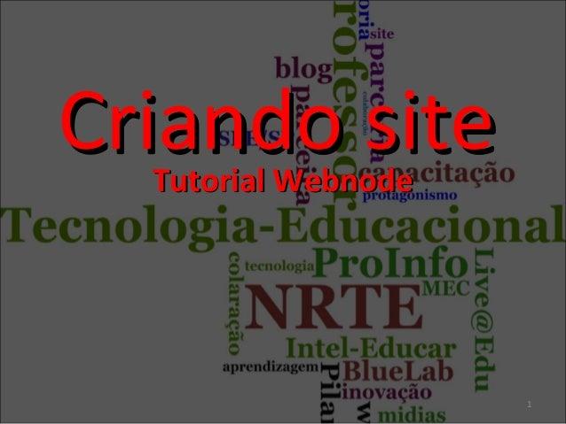 Criando site Tutorial Webnode  1