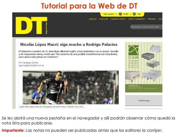 Tutorial para la Web de DTSe les abrirá una nueva pestaña en el navegador y allí podrán observar cómo quedó lanota lista p...
