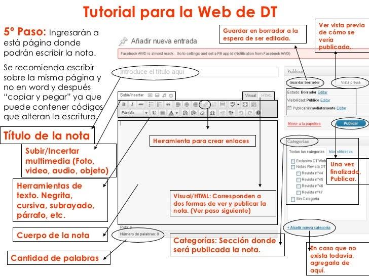 Tutorial para la Web de DT                                                                                Ver vista previa...