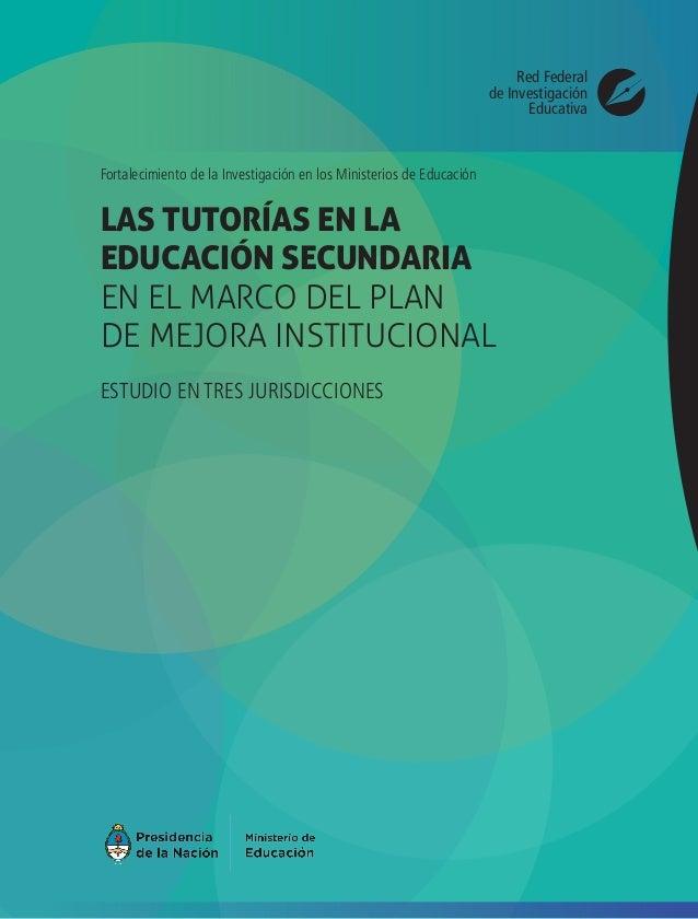 Las tutorías en la educación secundaria en el marco del Plan de Mejor…