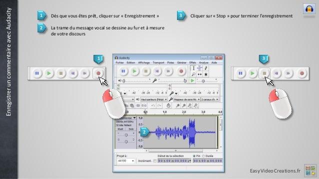 Il est aussi possible d'utiliser Audacity pour enregistrer du son provenant d'un microphone ou d'un lecteur de cassettes audio connectés à l'ordinateur (prises line -in, bleue ou mic, rouge).