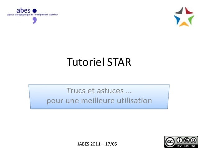 Tutoriel STAR JABES 2011 – 17/05