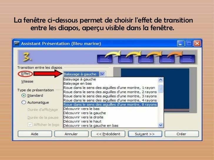 tutoriel diaporama open office impress