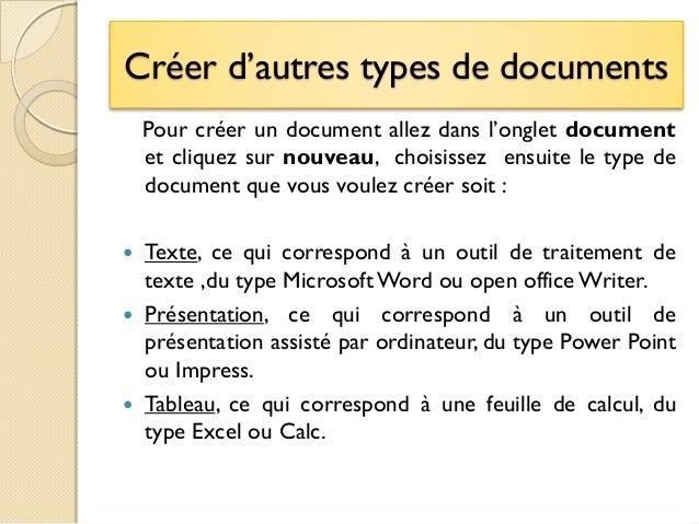 tutoriel google documents