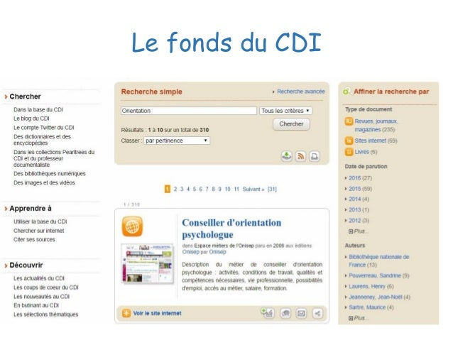Le fonds du CDI
