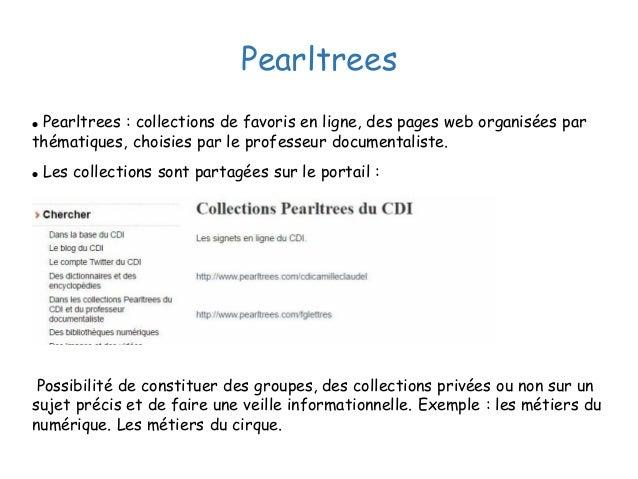 Pearltrees ● Pearltrees : collections de favoris en ligne, des pages web organisées par thématiques, choisies par le profe...