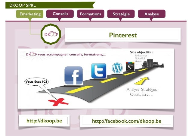 DKOOP SPRL Conseils Formations Stratégie AnalyseEmarketing Pinterest http://dkoop.be http://facebook.com/dkoop.be