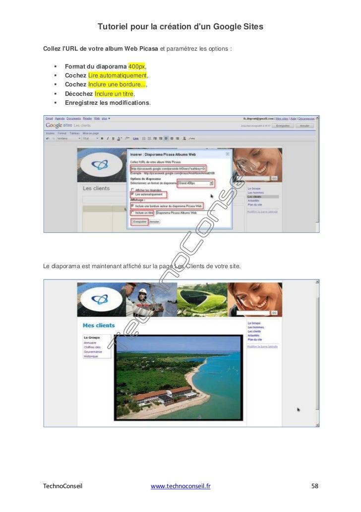 Tutoriel pour la cr ation d 39 un site web avec google sites for Idee pour site web
