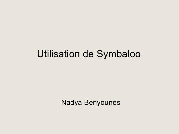 Utilisation de Symbaloo Nadya Benyounes