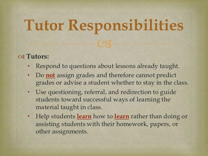Tutoring vs. Teaching