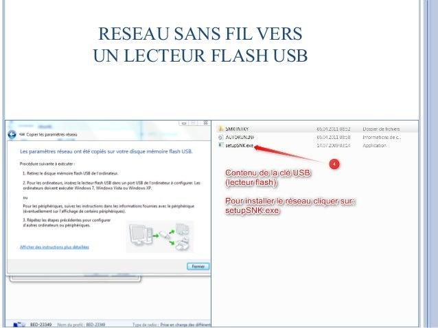 RESEAU SANS FIL VERS  UN LECTEUR FLASH USB