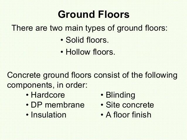 Solid ground floors