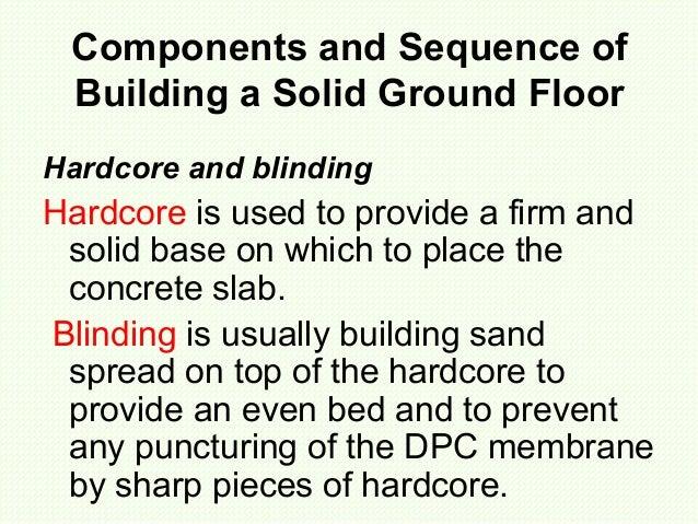 Solid Ground Floor ~ Solid ground floors