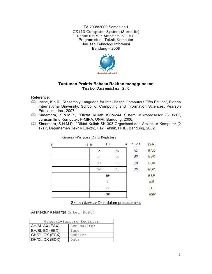 TA.2008/2009 Semester-1                         CE113 Computer System (3 credits)                            Dosen: S.N.M....