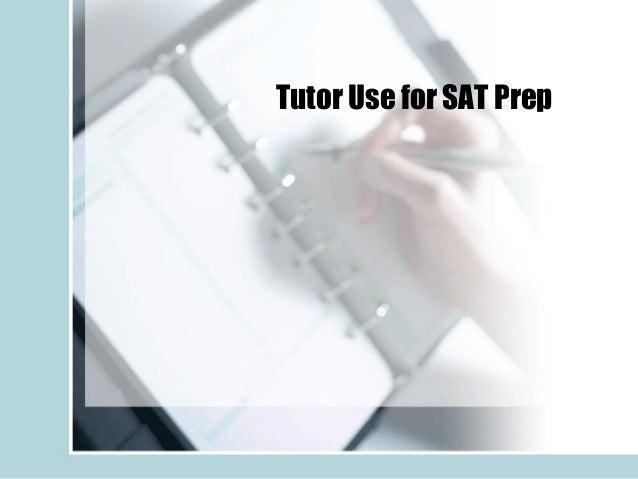 Tutor Use for SAT Prep