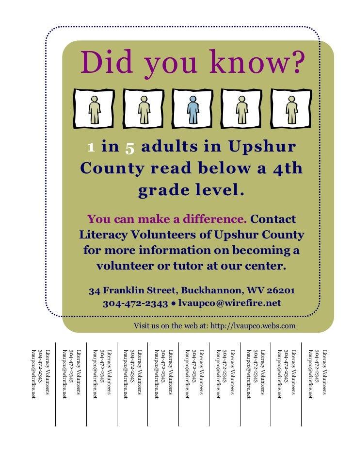 Literacy Volunteers                                                                                                       ...