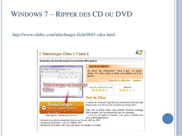 Télécharger cdex pour windows: téléchargement gratuit!